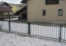 Vrtna jeklena ograja, zgoraj loki