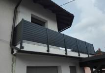 Balkonska ograja z ALU lamelami